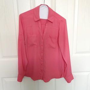 Salmon pink blouse